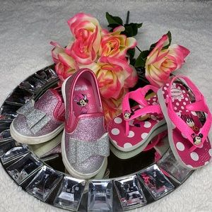 Minnie Mouse Pink Havaianas & Glitter Shoes